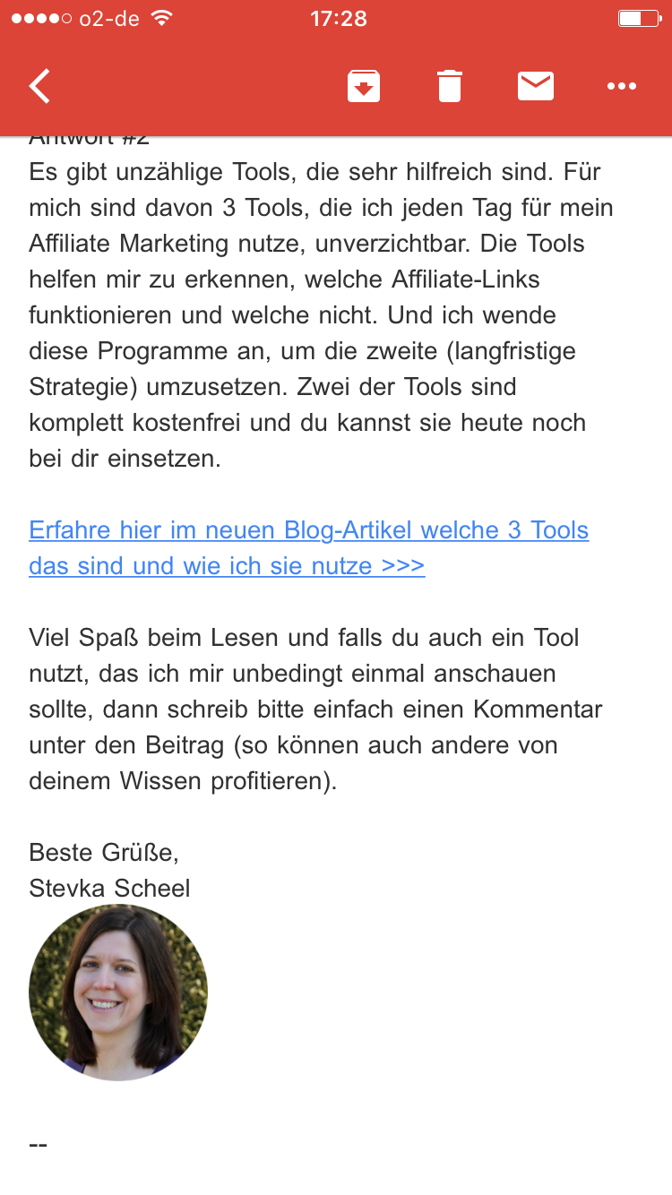 Stevka Scheel: Branding in Emails